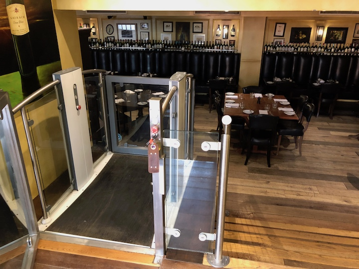 Disabled Access Lift at the Hotel du Vin Poole