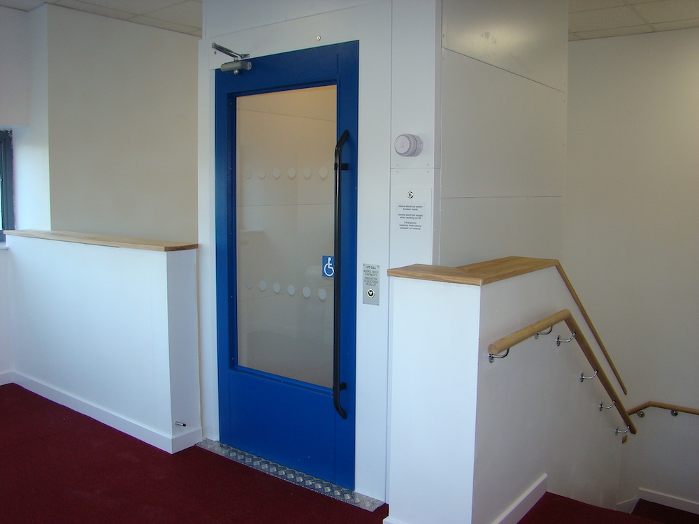 Disabled access lift at New Forest Ice Cream