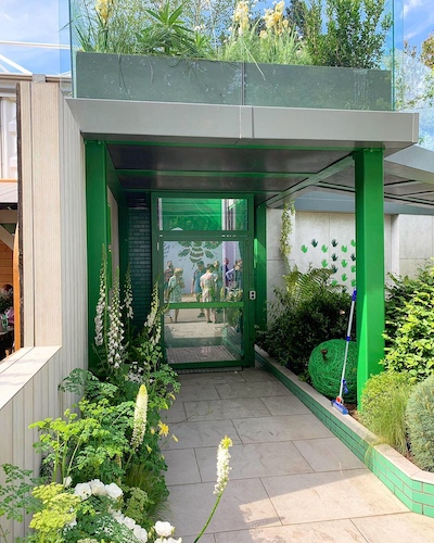 Access lift at The Greenfingers Charity Garden by Kate Gould