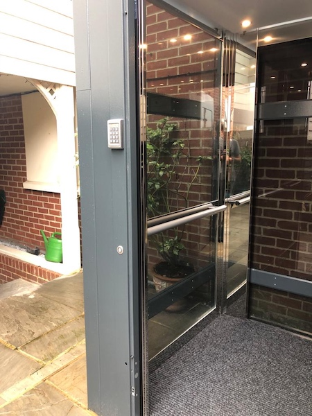 The lift features a keypad for extra security as the lift now acts as the property's front door