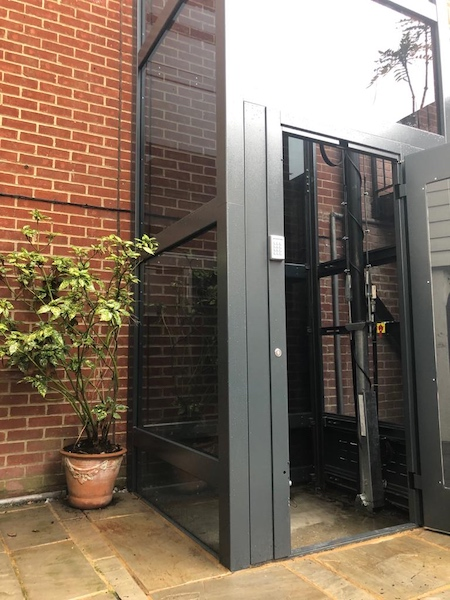 Our outdoor home lifts require a pit of 130mm below the finished floor level on the lowest floor