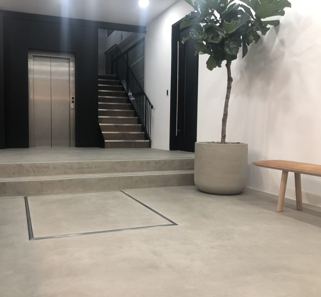 The hidden lift at Laystall Street disappears completely into the ground