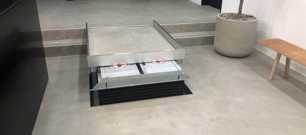 The hidden wheelchair lift at Laystall Street allows wheelchairs users to access the passenger lift to reach the rest of the office building