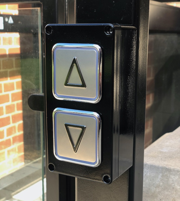 Each lift features wireless remote controls with call and send features
